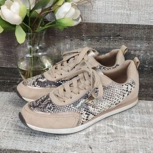 GUESS jeans snake print glam sneakers